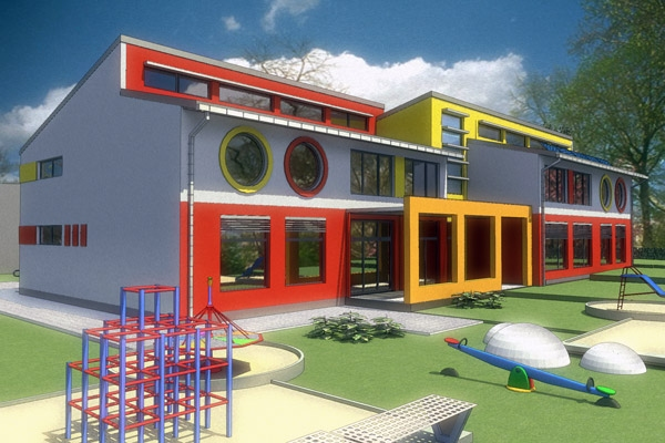 Пасивна детска градина - модел